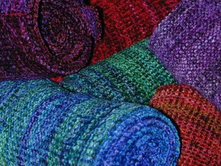 Chenille scarves selection